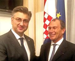 Visite de S.E. Monsieur Andrej Plenković